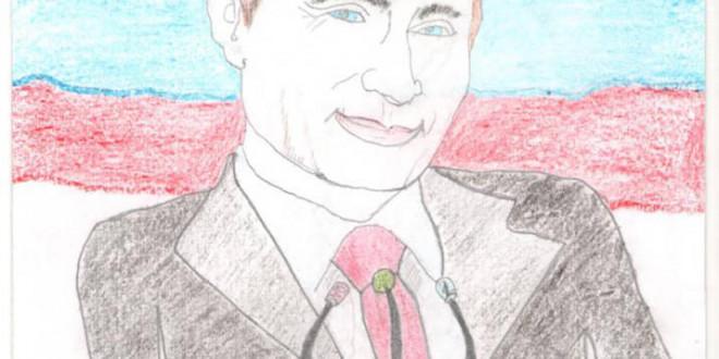 Фоторепортаж. Воспитанники детского сада «Рябинушка» рисуют президента