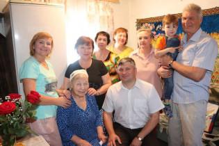 Долгожительница Поспелихи Ирина Иосифовна Балуева отметила свой 90-летний юбилей